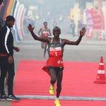 Kenya's Olympic champion Eliud Kipchoge wins Delhi Half Marathon