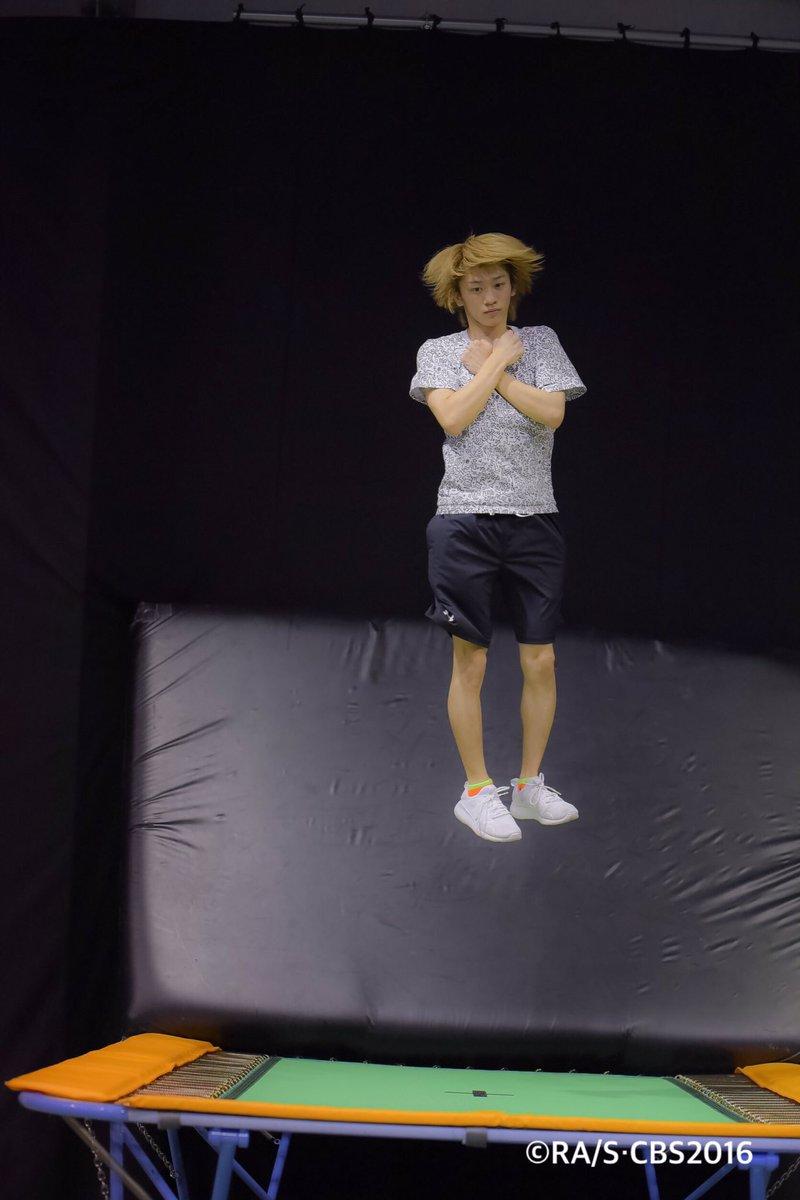 本日の一枚。タイトル:トリプルアクセル男子。表情が何とも言えないですね。#チアステ #チア男子