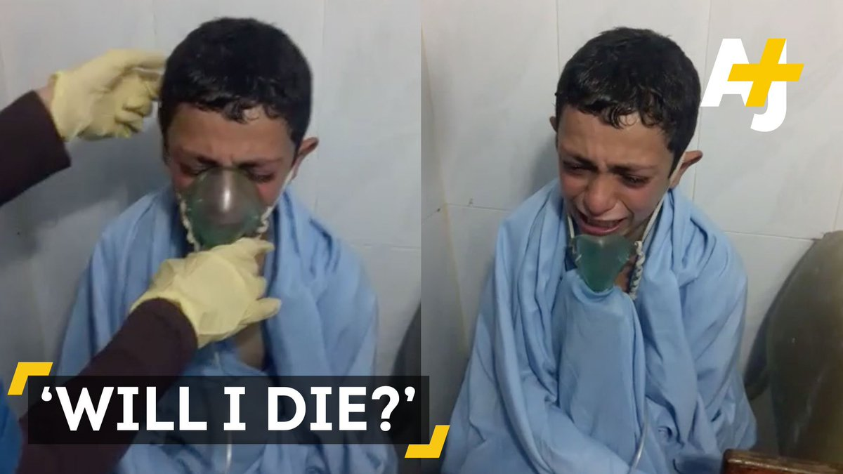 """""""Will I die? Miss? Will I die?"""" This child in Syria was a victim of chlorine gas attack."""
