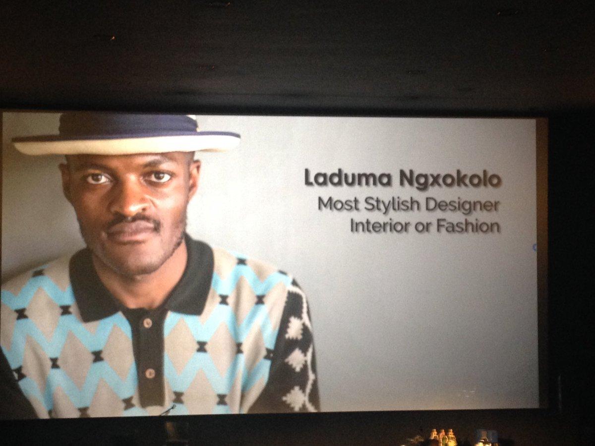 Hey there @LadumaNgxokolo congrats on your SA Style Awards win tonight
