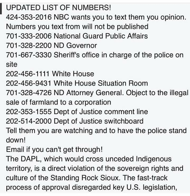 Reports of a convoy of military-style vehicles coming from Bismarck. Pls call, pls share #NoDAPL https://t.co/ZIPuQY6eTm