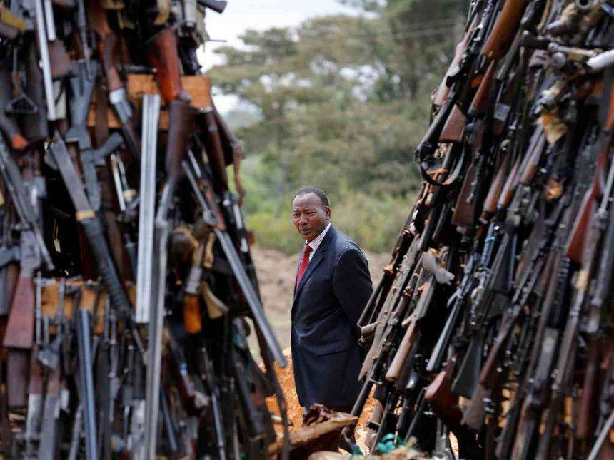 Don't stop seizure of illegal arms, we want peace, CS told