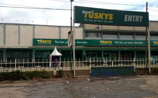 Tuskys Supermarket Hyrax branch closed after sewage line bursts