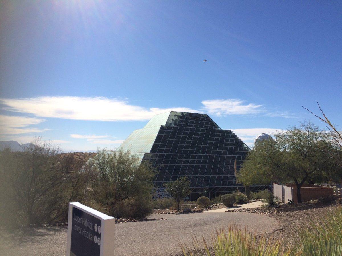 ヒューストンからアリゾナ州フェニックスへ!火星での生活を想定した研究施設「バイオスフィア2」を見学しました。被験者に選ば