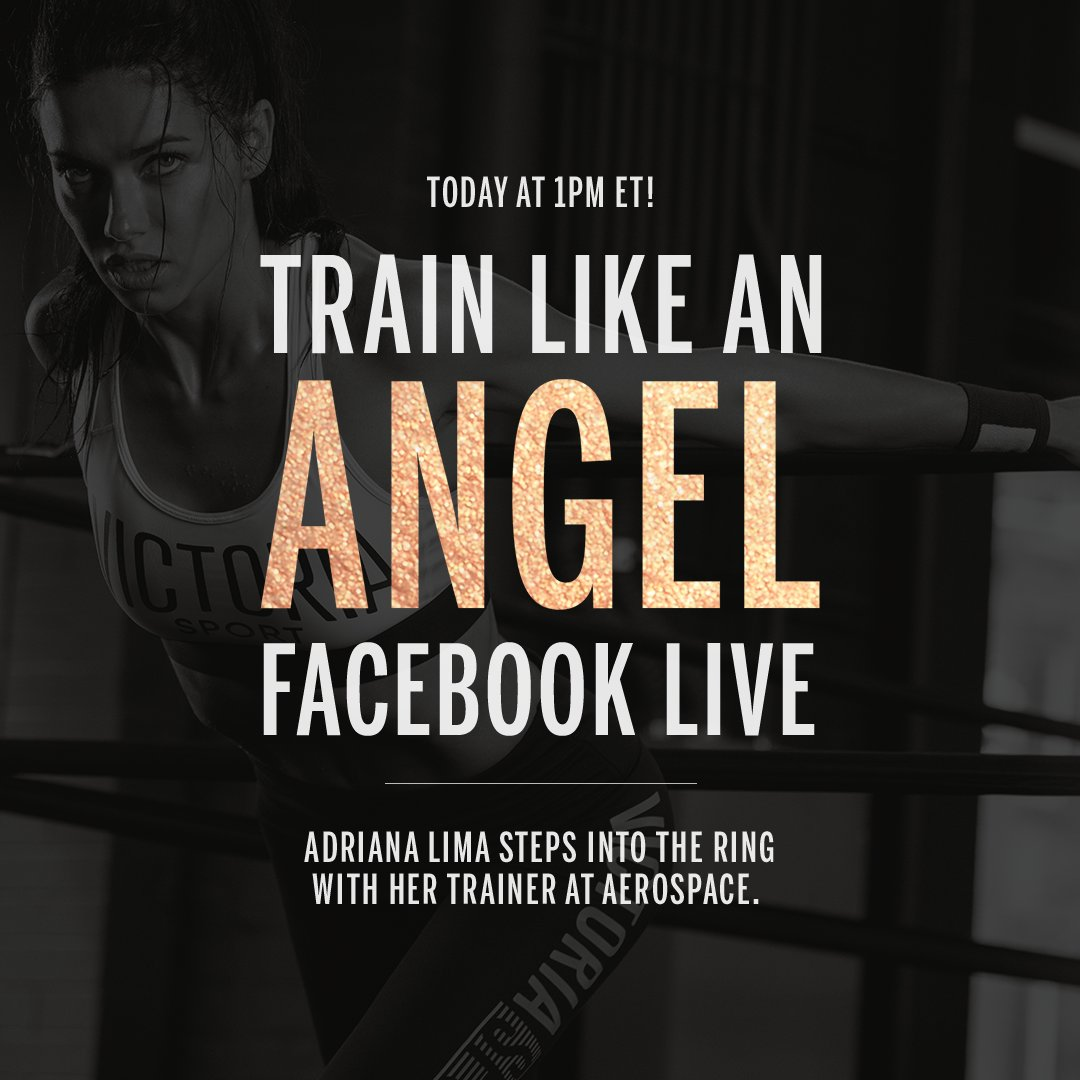 It's almost showtime! Watch @AdrianaLima get runway ready in 1 hour. #TrainLikeAnAngel https://t.co/NI0MMpRDMJ https://t.co/drSvisB1Rp