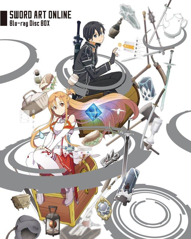 【ソードアート・オンライン Blu-ray Disc BOX ジャケット公開!】キリトとアスナが描かれたジャケットはキャ