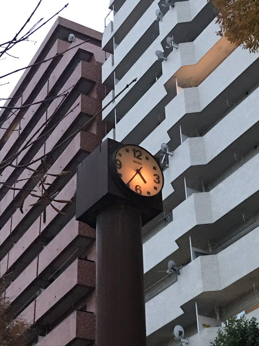 公園にあった『闇芝居』っぽい雰囲気の時計。