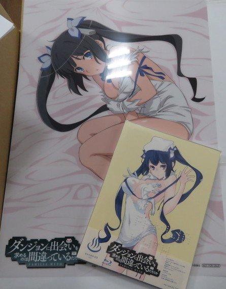 【入荷情報】「ダンジョンに出会いを求めるのは間違っているだろうか OVA」が入荷してますよ!特典ポスターはなんと! 描き