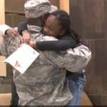 Military dad comes home for Christmas, surprises kids