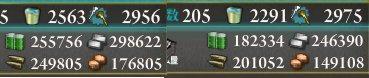 【艦これ】E-1甲クリア→E-5甲クリア時の消費資源。燃料73k、弾薬49k、鋼材52k、ボーキ27k、バケツ272個。
