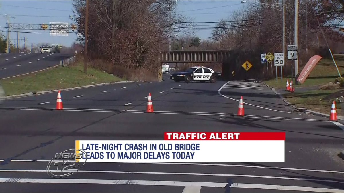 an overnight crash on route 9 in old bridge has led to road closures