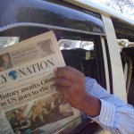 DAILY NATION publishing different headlines depending on RAILA or UHURU's strongholds.