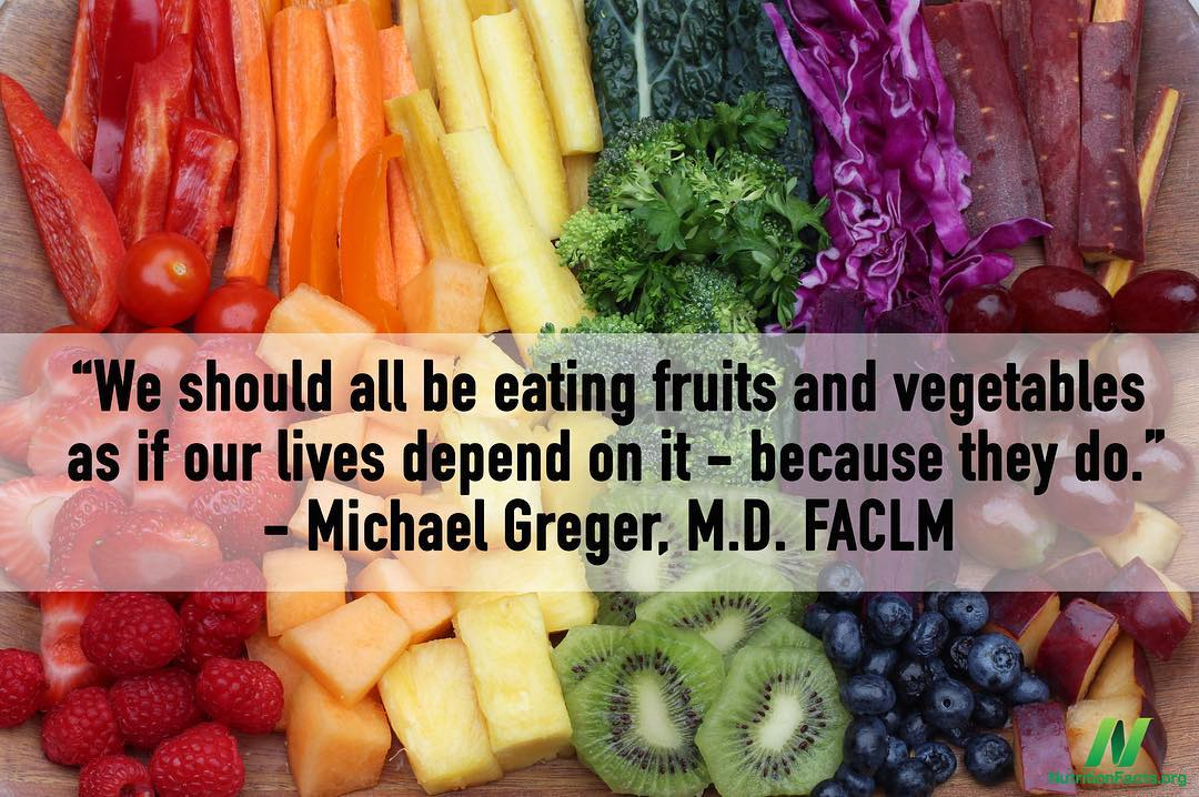 Eat more fruits and veggies. https://t.co/MxsNecRuEH #HowNotToDie https://t.co/7GmIoriyuH