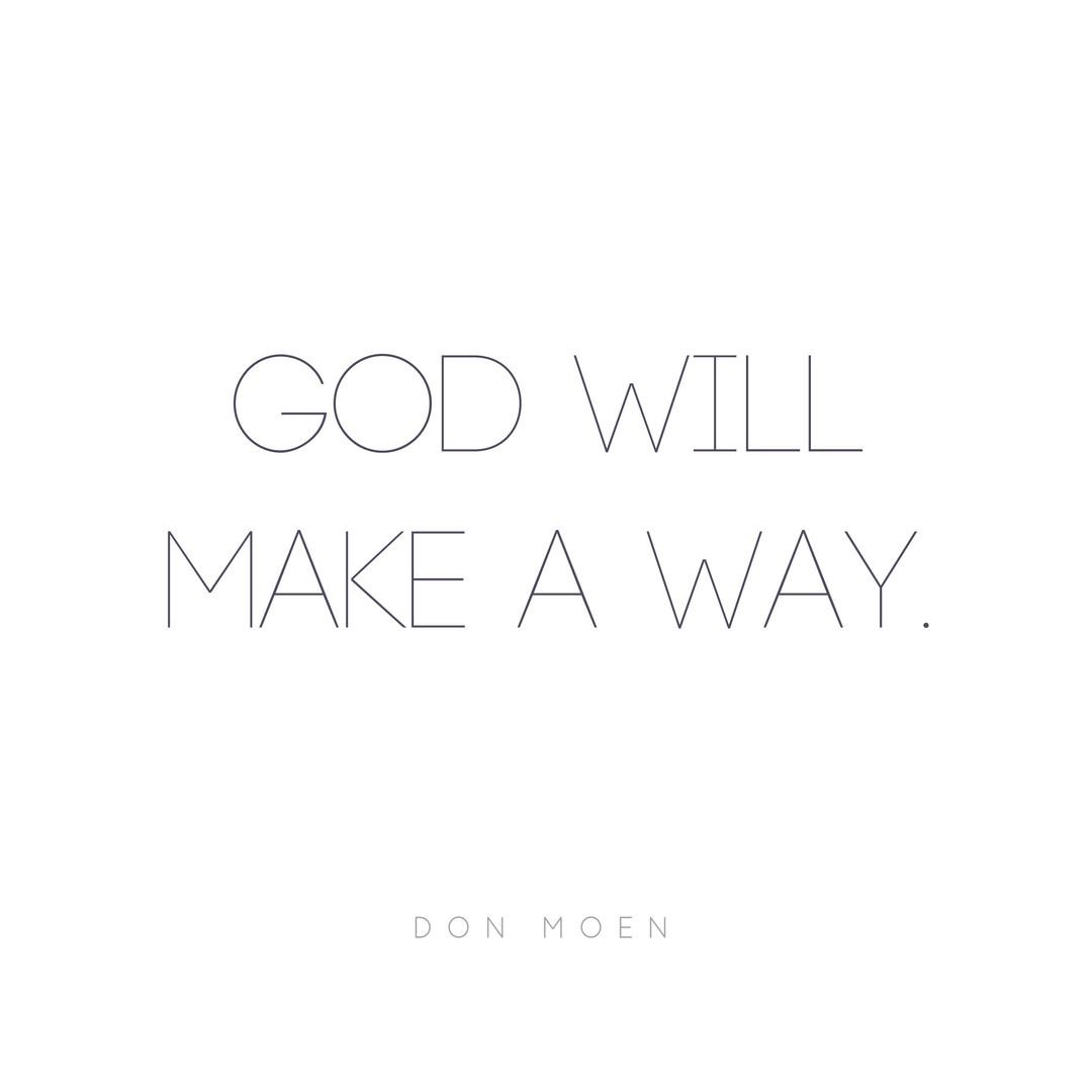 This is the TRUTH: GOD WILL MAKE A WAY! Share this with someone who needs encouragement today. https://t.co/HbBnocVli9