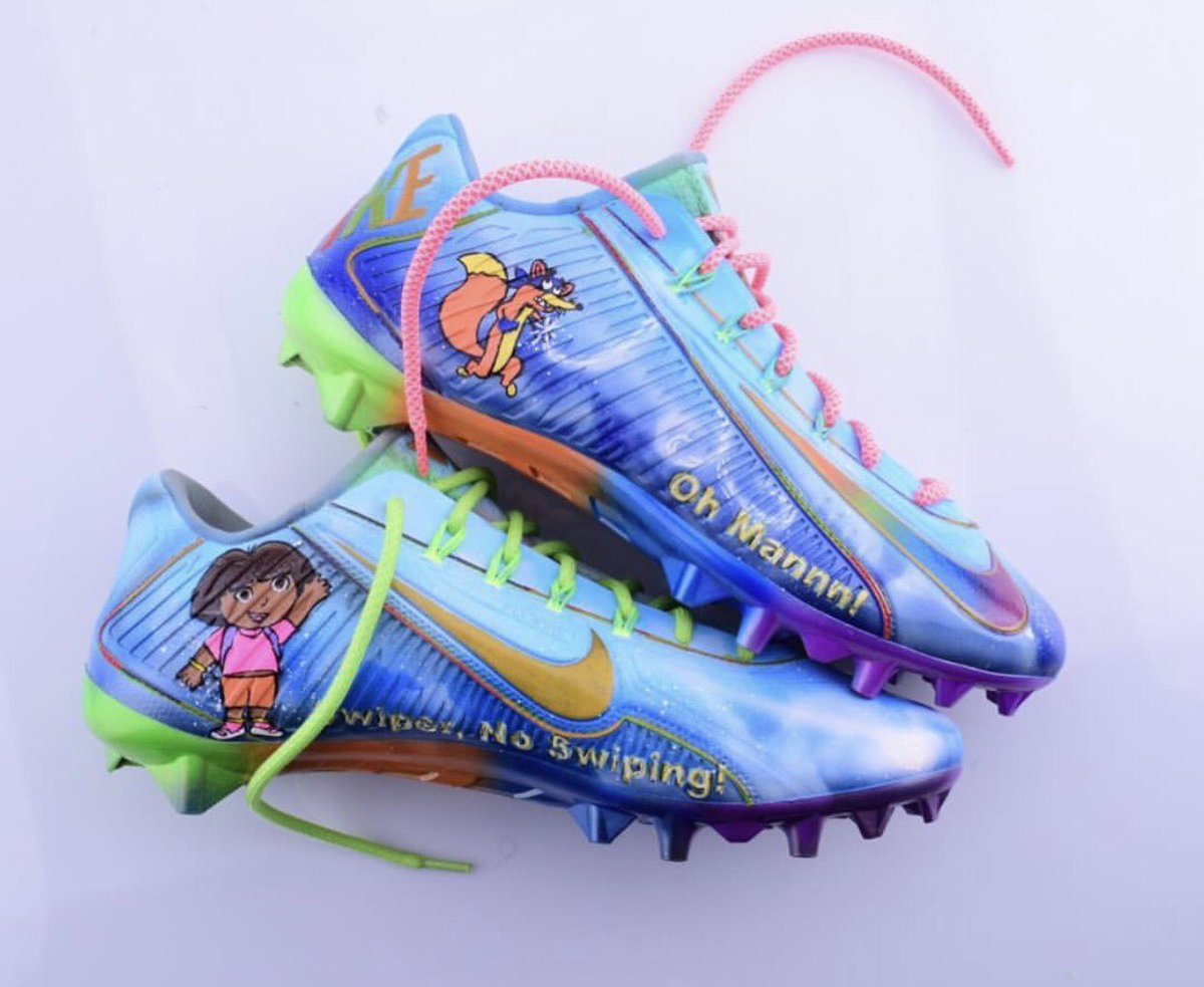 Odell beckham jr.\'s game cleats support the make a wish foundation ...