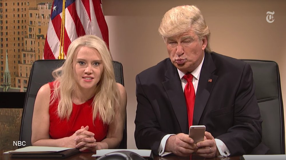 """""""Saturday Night Live"""" criticized Donald Trump's tweets. He responded with a tweet."""