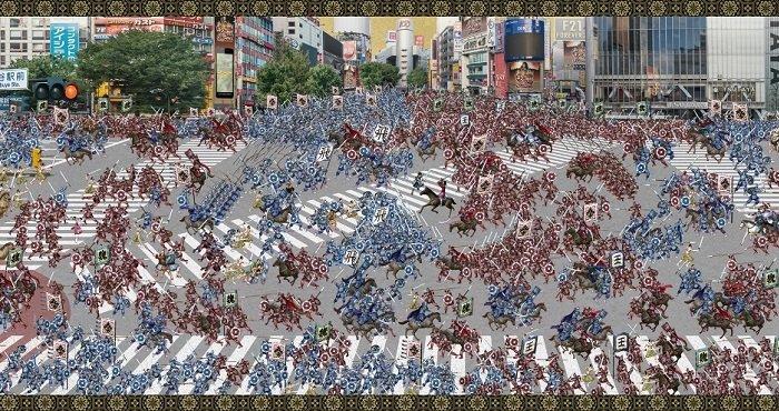 『キングダム セブンフラッグス』の戦場を再現した「動く戦国合戦図」を全国5都市で公開!  #キングダム #ナナフラ