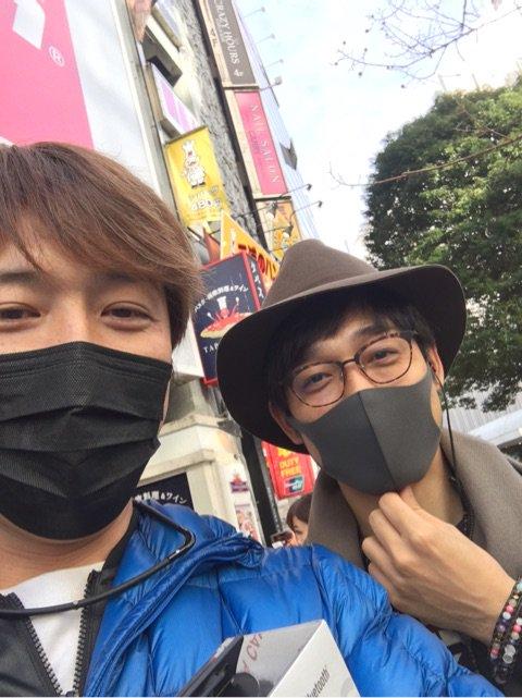 [純烈] タイムイエローとガオブラック: 渋谷でバッタリ!おー、久しぶり。嬉しいなあ。俺の大好きな和泉宗兵くん。全国で上