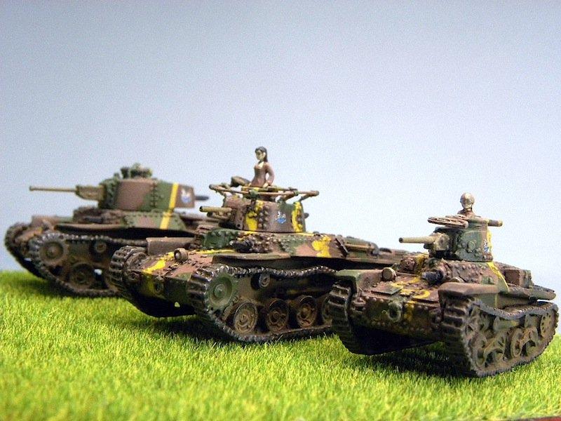 知波単学園の車両を並べてみました #144スケモ #garupan #模型戦車道