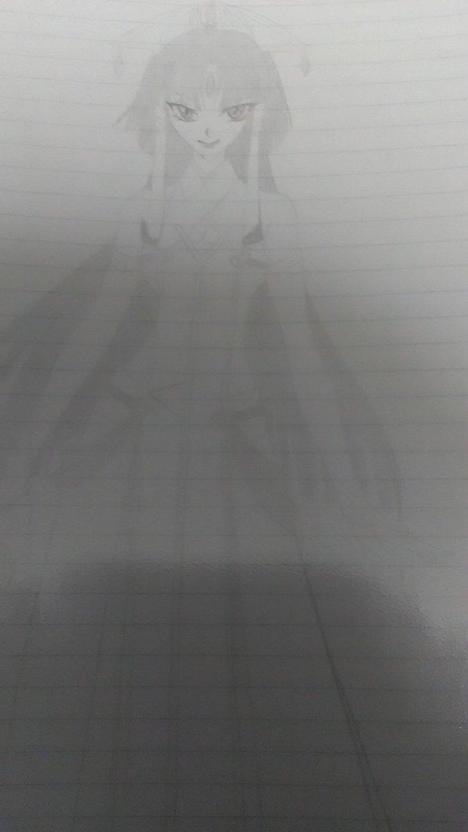 サラマンディーネ様もアナログで描いたことあるんだよなぁ・・・薄いぃ・・(-_-;) #クロスアンジュ