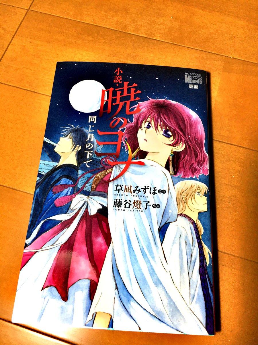 ついに暁のヨナの小説買った✌️😆💗ヨナ綺麗すぎか!!読むの楽しみ😍😍
