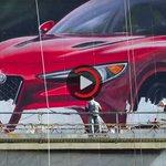 Watch In Awe As Alfa Romeo Paints A Gigantic Stelvio Mural In LA