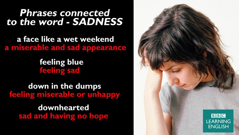 Learn four different ways to say you are sad. #learnenglish #sadness #vocabulary https://t.co/VCrqgwpgnN