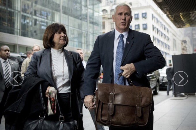 VP-elect @mike_pence & his wife, still carrying their own bags, holding hands. https://t.co/spEqW49QNf https://t.co/4gWVl8mlmv