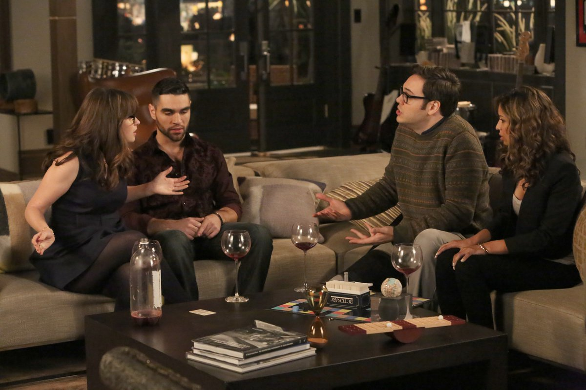 RT @NewGirlonFOX: Double dates are FUN...right? Tag along with Jess and Robby TOMORROW on an all-new #NewGirl! ???? https://t.co/C3puu2VCwt