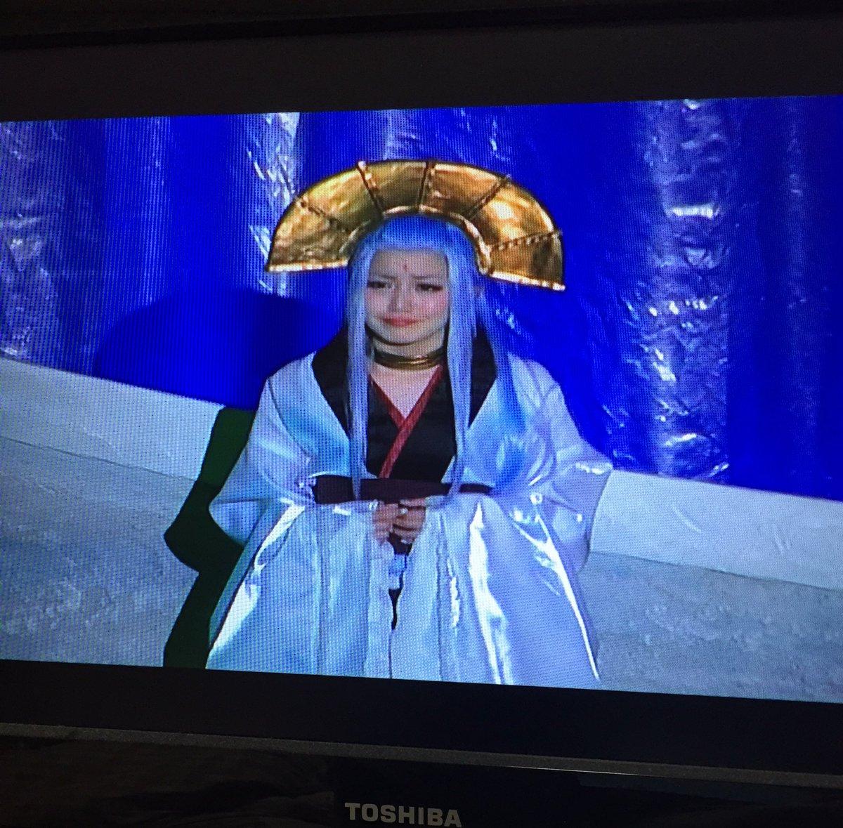 ⚡️鳴神姫♡  この役は可愛くてカッコイイ❗️ ミュージカルだから一人で歌いながら踊るシーンがあって、大変そうだったけど