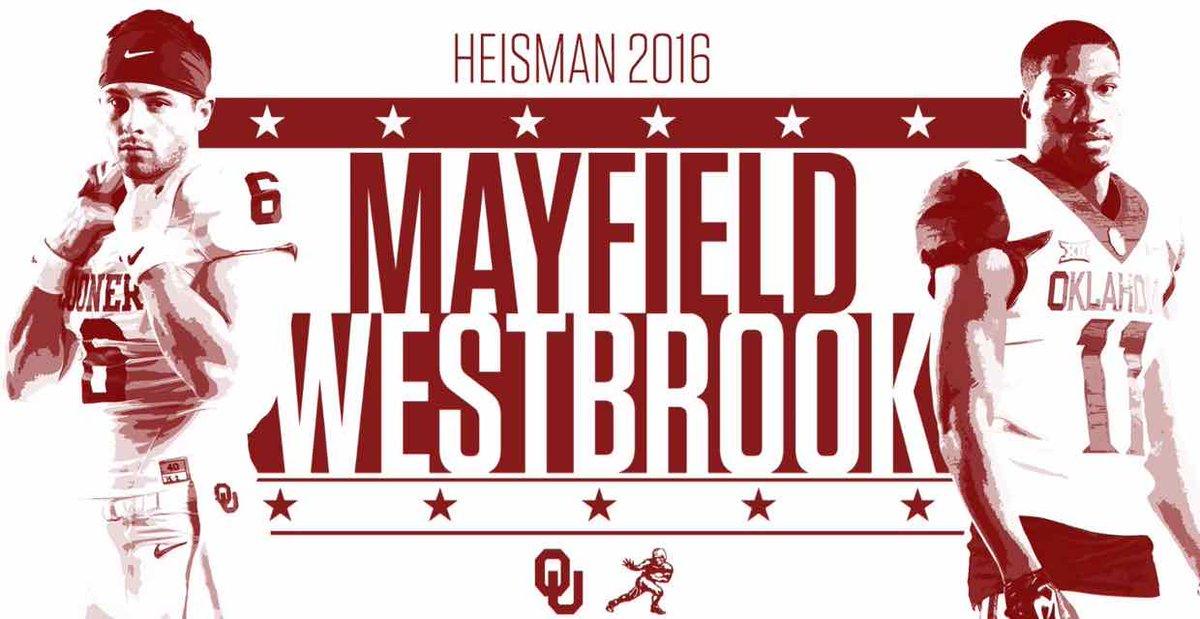 Sooner stars Mayfield, Westbrook invited to New York for Heisman https://t.co/F2qdM6anV1 #Sooners https://t.co/3ILSJvaK9s