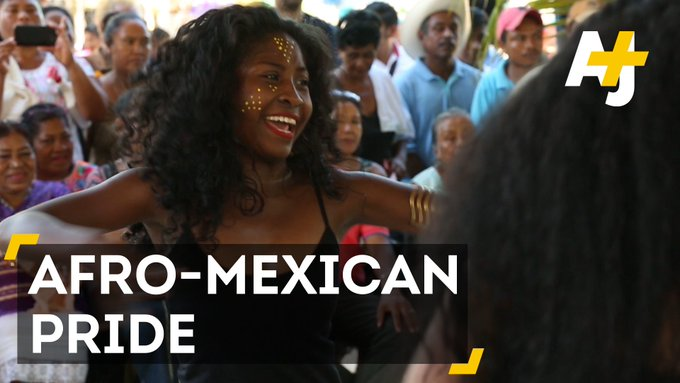 Proud to be Afro-Mexican! These young women are dancing to promote their African heritage.
