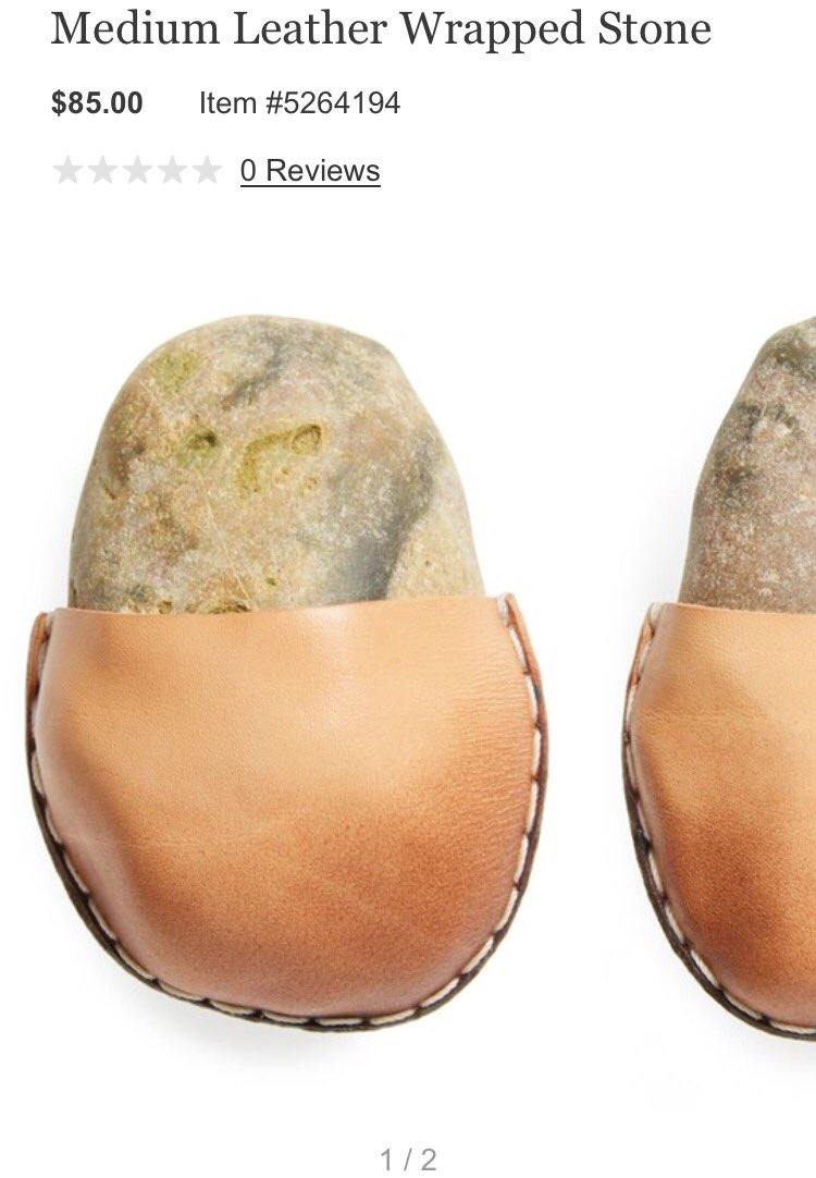 "Someone please explain Nordstrom's $85 leather wrapped stone ""conversation piece"" gift idea https://t.co/DUZEAGDkuS https://t.co/JgSZBaRRqQ"