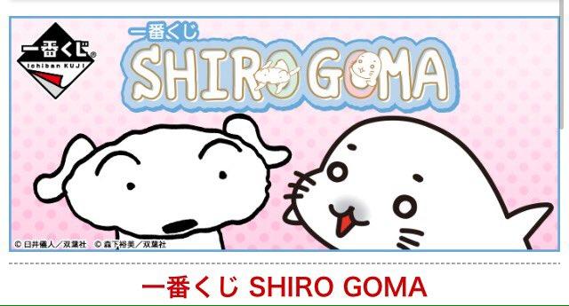 ↓New情報『一番くじ SHIRO GOMA』発売日:4月中旬価    格:¥620夢のコラボはまだまだ続く⁉今度は「シ