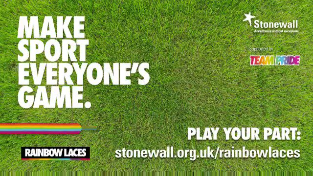 We're supporting #RainbowLaces this week as part of #TeamPride to show sport is for everyone. @stonewalluk https://t.co/IPqZkwTnYz