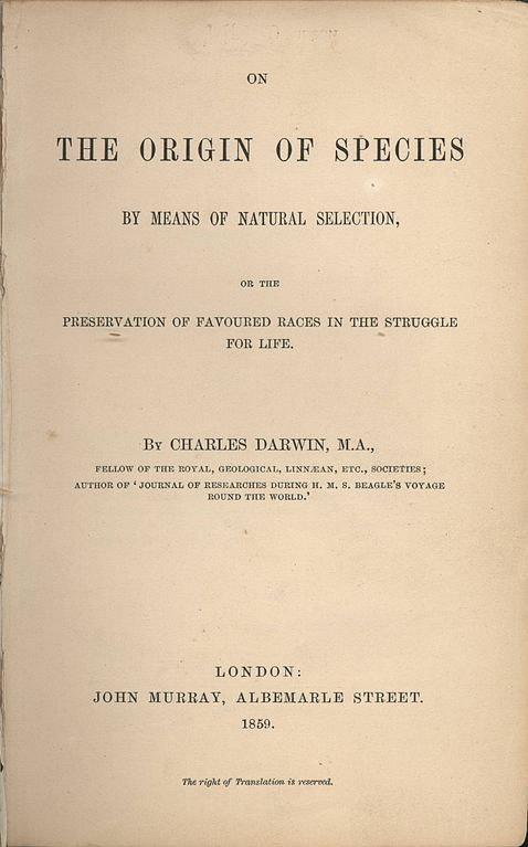 #OnThisDay 1859: Charles Darwin's book On the Origin of Species was published https://t.co/vPqpUGHymq