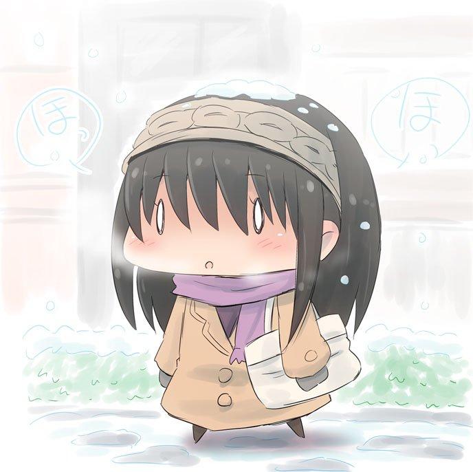 11月なのに関東はものすごい雪だった。大雪の降る中、大学に通学する鷺沢文香ちゃん。