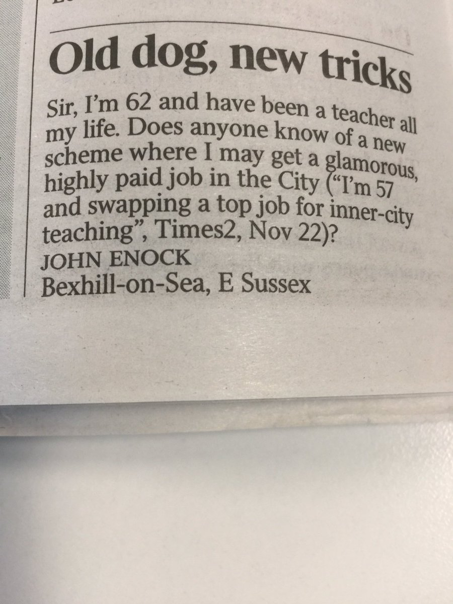 Teach Next: it's only fair it should go the other way too, as this letter to @thetimes points out https://t.co/L0SzVny79W