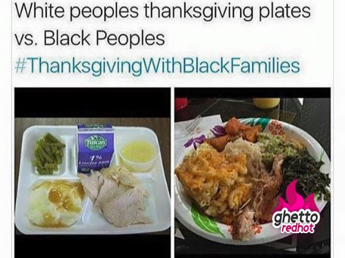 This is my #WhiteThanksgiving vs