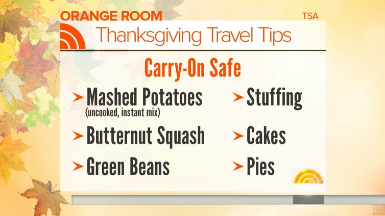 Yup, you can bring your Thanksgiving turkey onto a plane via @TODAYshow