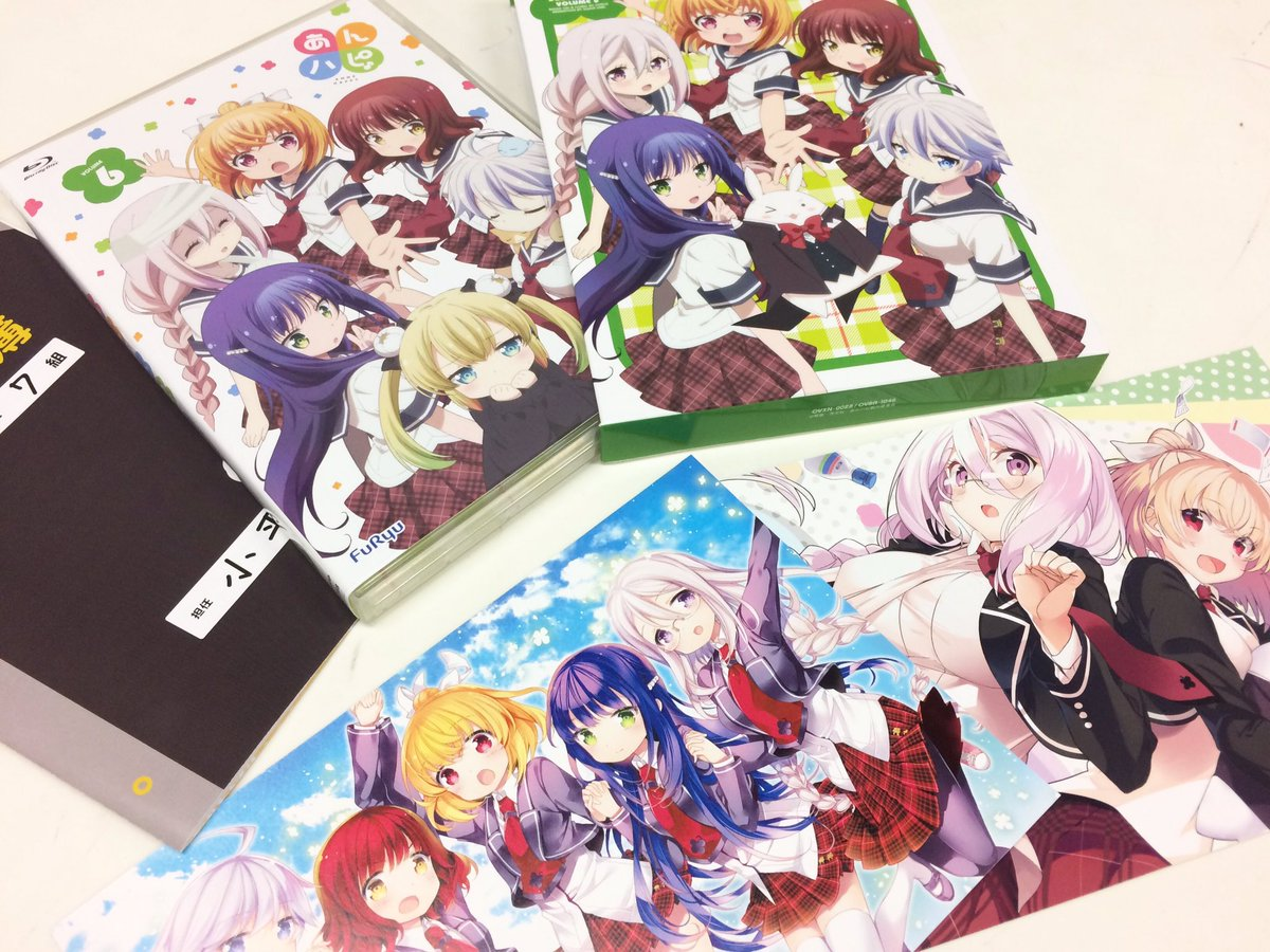 「あんハピ♪」BD/DVD第6巻、お楽しみいただけていますか?最終巻らしく、パッケージイラストは5人と1匹が大集合!この