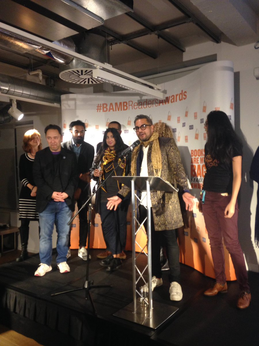 More than 50k ppl voted for this - #thegoodimmigrant wins #BAMBReadersAwards readers choice award!!!