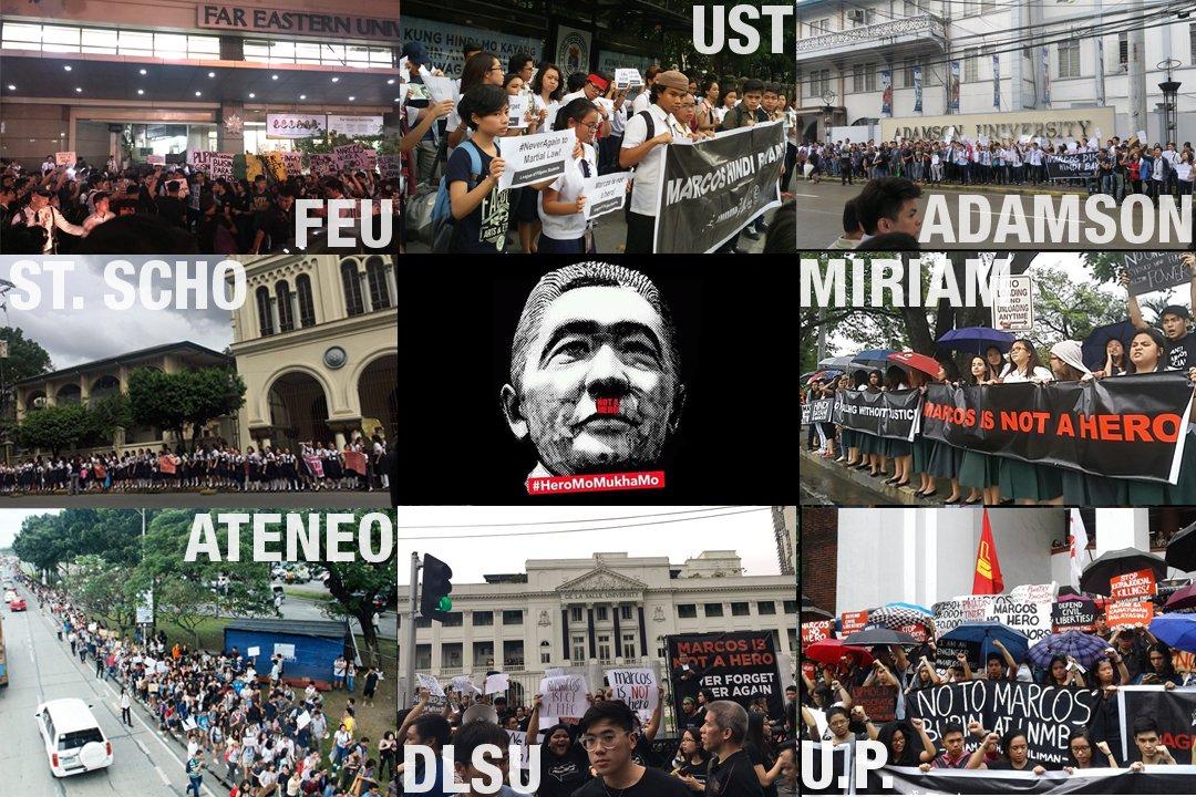 Mabuhay ang mga thinking millennials! #MarcosNOTaHero #NeverAgain #HeroMoMukhaMo https://t.co/36YIsAO8xt