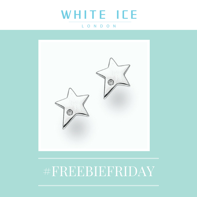 WhiteIceLondon Win Silver & Diamond star earrings Xmassy FreebieFriday & RT Comp