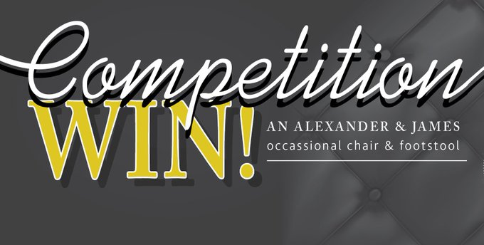 win Alexander & James occasional chair & footstool! Click link to enter! > FreebieFriday