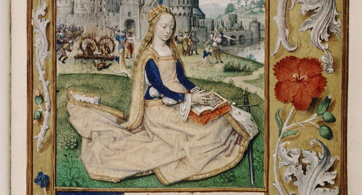 Today is the feast day of St Catherine, patroness of libraries and librarians.  https://t.co/zAR7Zkb7x3 https://t.co/OJxNt4Lc1j