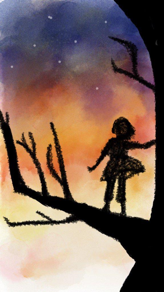 山賊の娘ローニャ秋から冬へかけての木の上!