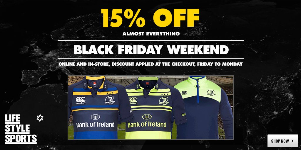 Let's hope @LeinsterRugby make it a #BlackFriday for Scarlets. Score yourself a 15% discount to boot #SCAvLEI https://t.co/SCPfLSzS6k