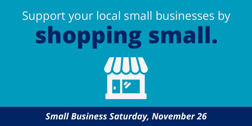 Today's the day! Are you ready to #ShopSmall? #SmallBizSat https://t.co/wFAwAdMTEd