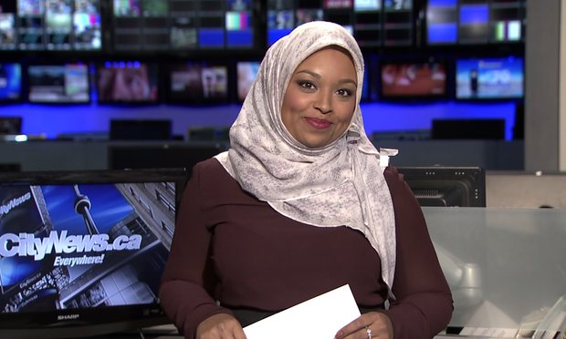 She became Canada's first hijab-wearing news anchor.  The sky didn't fall. https://t.co/m1DpcX1W0C